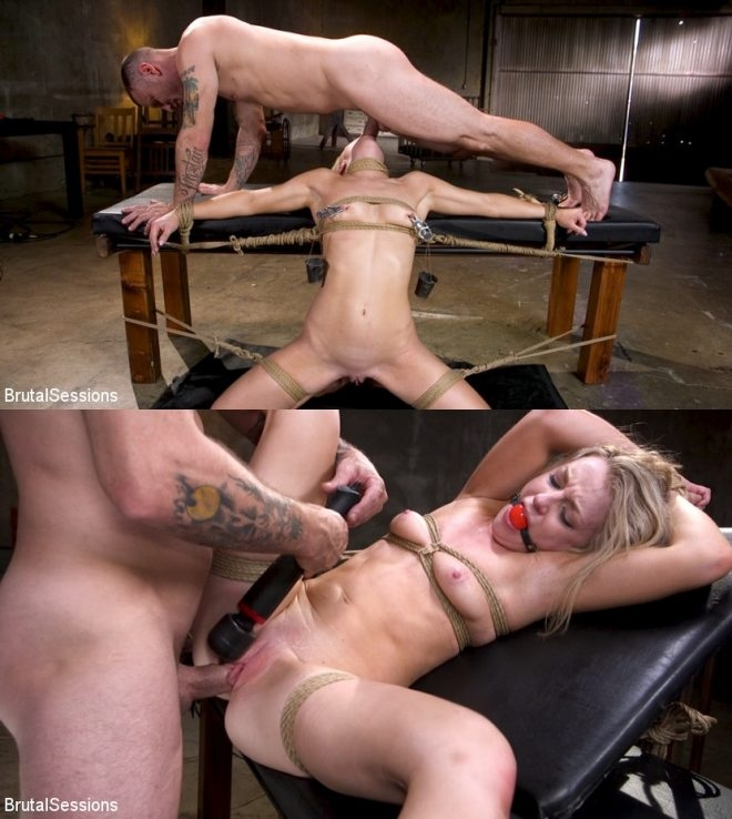 BRUTAL SESSIONS - Mr. Pete, Kate Kennedy - Girl Next Door Kate Kennedy Tied in Rope Bondage and Fucked (2019/HD/1.89 GB)