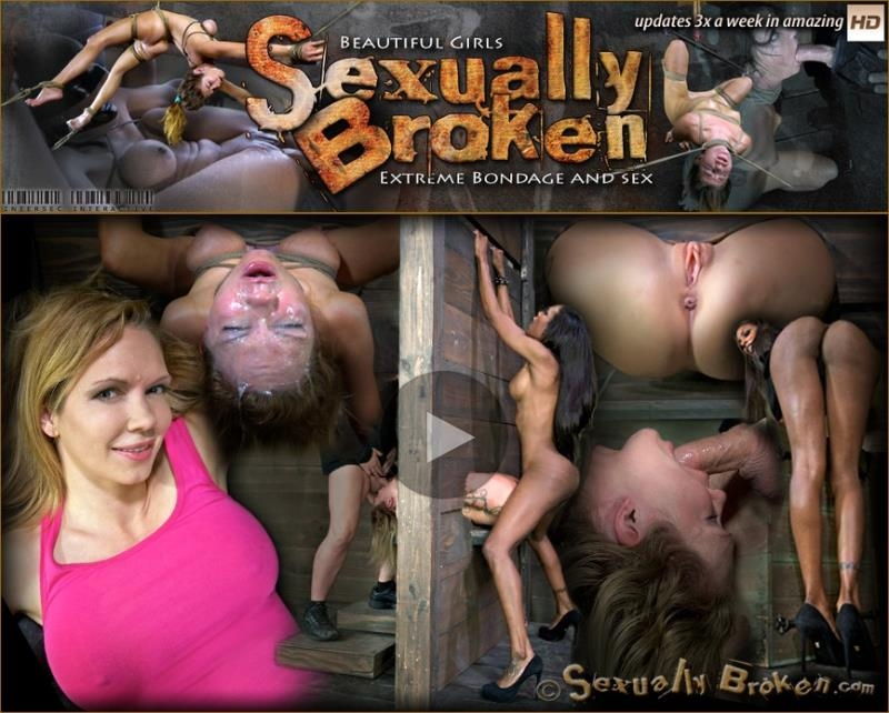 SexuallyBroken - Rain DeGrey, Natassia Dreams - Skinny Blond with HUGE tits, is double fucked, made to squirt and throat fucked out of her mind (2013/HD/822 MB)