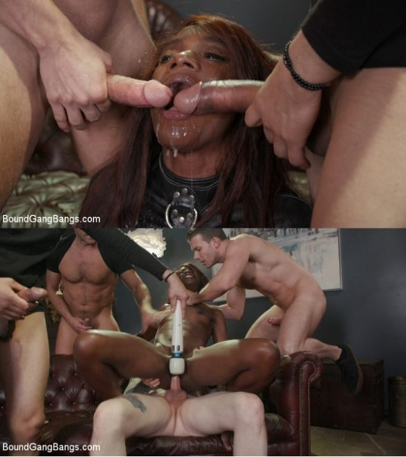 BOUND GANG BANGS - Ana Foxxx, Ramon Nomar, Donny Sins, Codey Steele, Johnny Goodluck - Hot Fit Slut Ana Foxxx Bound, Fucked, DP'd and Stuffed Airtight (2020/HD/2.49 GB)