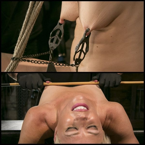 Blonde Buff MILF Helena Locke Made to Cum in Tight Rope Bondage (2020/SD/582 MB)