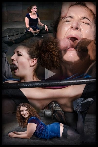 Curly haired newbie Endza bound into the splits and facefucked by BBC, drooling orgasms (2020/HD/1.10 GB)