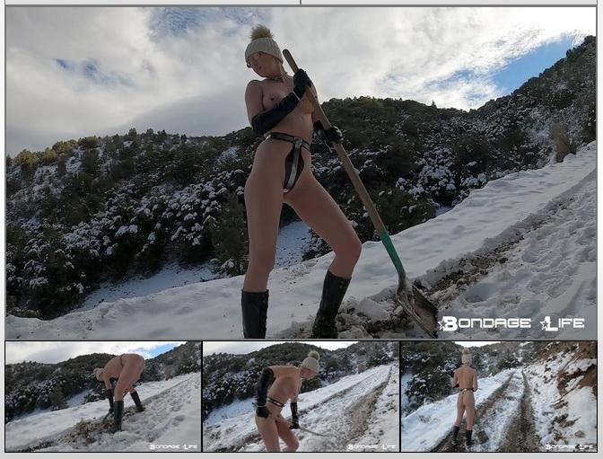 BondageLife - Rachel Greyhound - Working In The Snow (2020/HD/485 MB)